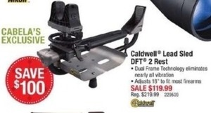 Caldwell Lead Sled DFT 2 Rest with Dual Frame Technology