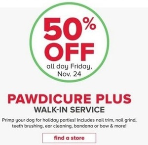 Pawdicure Plus Walk-In Service