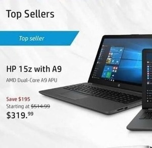 HP 15z Laptop with AMD Dual-Core A9 APU