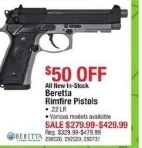 Beretta Rimfire Pistols