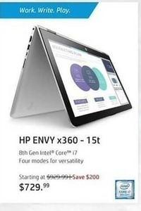 HP Envy x360 -15t Laptop