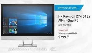 HP Pavilion 27-r015z All-in-One PC