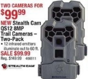 Stealth Cam QS12 8MP Trail Cameras - Two Pack