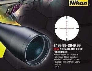 Nikon Black X1000 Rifescopes