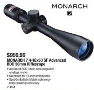 Nikon Monarch 7 4-16x50 SF Advanced BDC 30mm Riflescope