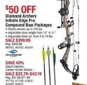 Diamond Archery Infinite Edge Pro Compound Bow Packages