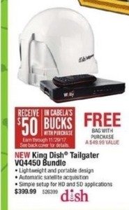 King Dish Tailgater VQ4450 Bundle + Free Bag