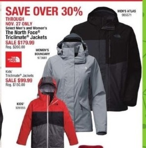 Men's & Women's The North Face Triclimate Jackets