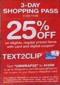 Regular Priced Items w/ Card & Coupon