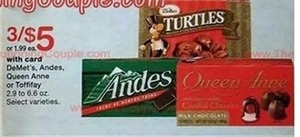 De Met's, Andes, Queen Anne Or Toffifay with Walgreens Card