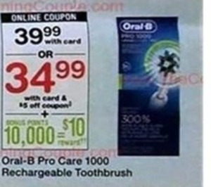 Oral-B Pro Care 1000 Toothbrush w/Card