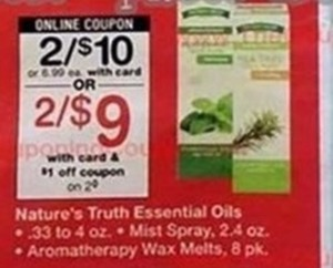 Nature's Truth Essential Oils w/ Card & Coupon