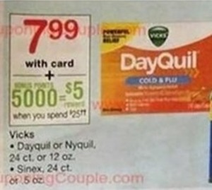 Dayquil or Nyquil w/ Card + 5000 Points