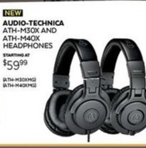 Audio-Technica ATH M30X Headphones