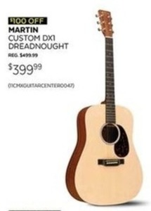 Martin Custom DX1 Dreadnought Acoustic Guitar