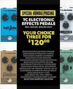 TC Electronic Effects Pedals