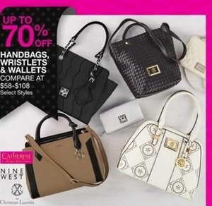 Handbags, Wristlets and Wallets