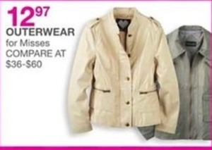 Outerwear For Misses