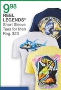 Reel Legends Short Sleeve Tees For Men