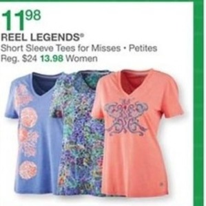 Misses Reel Legends Short Sleeve Tees