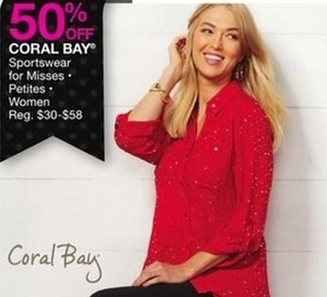 Coral Bay Sportswear for Misses, Petites & Women