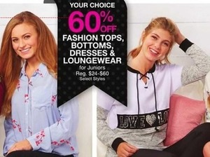 60% Off Fashion Tops, Bottoms, Dresses, and Loungewear