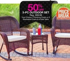 3-pc Outdoor Set