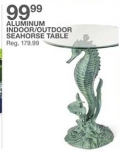 Aluminum Indoor/Outdoor Seahorse Table