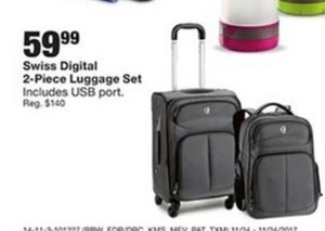 Swiss Digital 2-Piece Luggage Set
