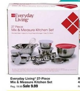 Everyday Living 27-Pc Mix & Measure Kitchen Set
