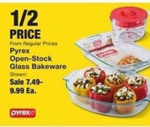 Pyrex Open Stock Glass Bakeware