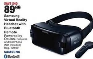 Samsung Virtual Reality Headset w/ Bluetooth Remote