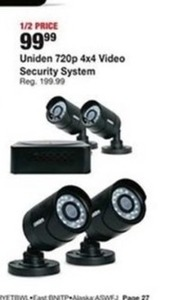 Uniden 720p 4x4 Video Security System