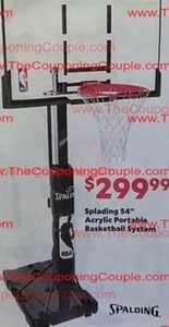 "Spalding 54"" Acrylic Portable Basketball System"