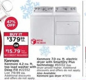 Kenmore 4.2 cu. ft. Top Load Washer w/ Deep Fill