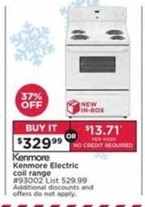 Kenmore Electric Coil Range