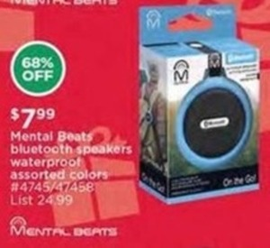 Mental Beats Bluetooth Speakers Waterproof