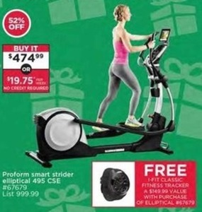 Proform Smart Strider Elliptical 495 CSE