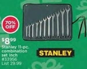 Stanley 11-Pc Combination Set Inch