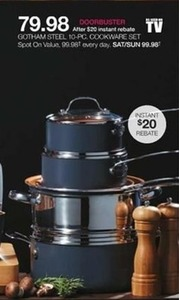 Gotham Steel 10pc Cookware Set