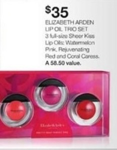 Elizabeth Arden Lip Oil Trio Set