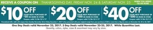 Up to $40 Off Entire In-Store Order