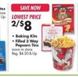 Baking Kits and Filled 3 Way Popcorn Tins