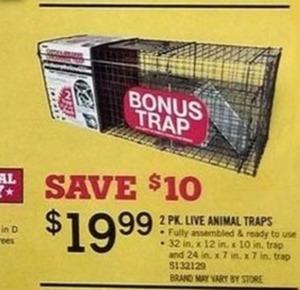 2 pk. Live Animal Traps