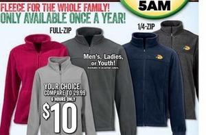 Full-Zip and 1/4 Zip Fleece