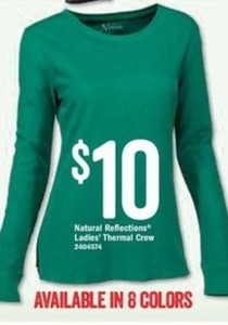 Natural Reflections Ladies' Thermal Crew
