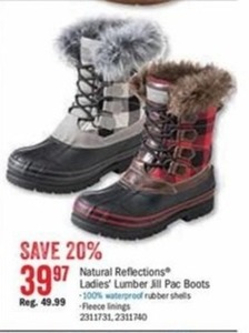 Natural Reflections Ladies' Lumber Jill Pac Boots