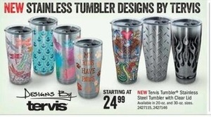 Tervis Tumbler Stainless Steel Tumbler w/Clear Lid