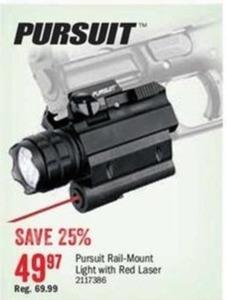 Pursuit Rail-Mount Light w/ Red Laser