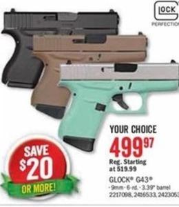Glock G43 9mm